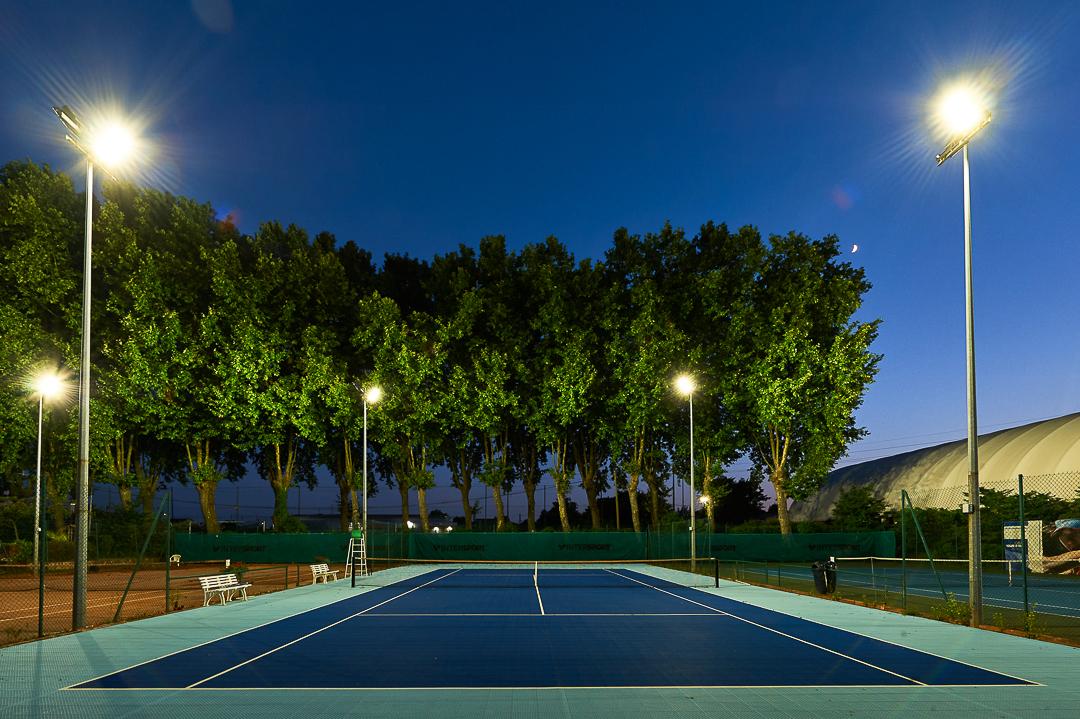 eclairage LED tennis club bordeaux cauderan-ideaelec-electricite generale