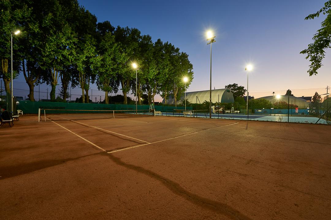 renovation eclairage electrique tennis club bordeaux cauderan-ideaelec-electricite generale